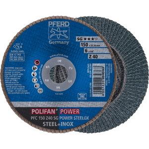 Lameļu slīpdisks 150mm Z40 SG POWER STEELOX PFC, Pferd