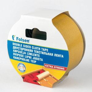 Abpusējā lente(tekstila) 50mmx25m, Folsen