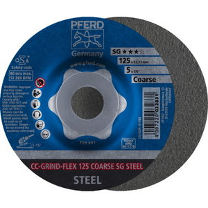 Metallilihvketas 125mm COARSE CC-GRIND-FLEX, Pferd