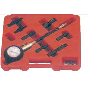 Kompressomeeter ottomootoritele, 0-20 bar, plastkohvris, Spin