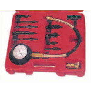 Compression tester for diesel engines, 0-70 psi., Spin