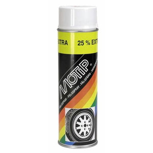 Riteņu aerosols WHEEL SPRAY balts 500ml, Motip