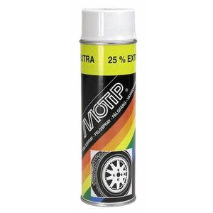 Riteņu aerosols WHEEL SPRAY balts 500ml, Motip
