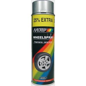 Riteņu aerosols WHEEL SPRAY sudraba 500ml, Motip