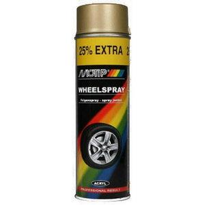 Purškiami dažai WHEEL SPRAY  aukso spalvos  500ml aerozolis, Motip
