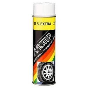 Riteņu aerosols WHEEL SPRAY melns 500ml, Motip