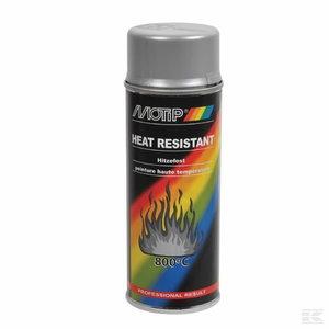 Kuumakindel värv THERMO SPRAY 800°C hõbe 400ml aerosool, Motip