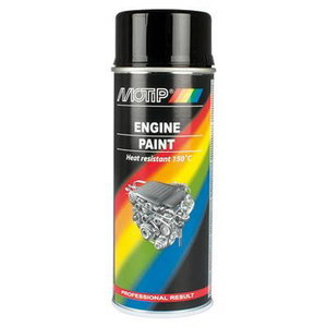 Mootorivärv ENGINE PAINT must 400ml aerosool, Motip