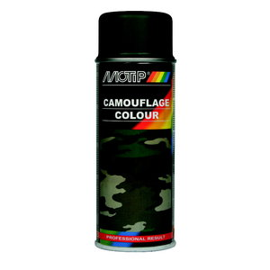 Camouflage RAL 6031 izsmidzināmā krāsa green 400ml, Motip