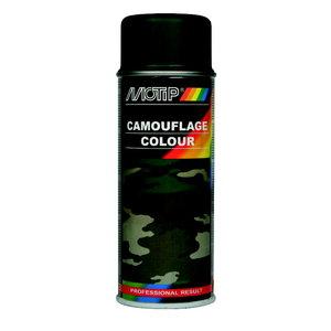 Purškiami dažai  Camouflage RAL 6031 green 400ml, Motip