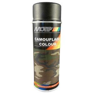 Lakas aerosols CAMOUFLAGE RAL 9021 black 400ml, Motip