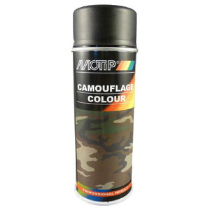 Lakas aerosols CAMOUFLAGE RAL 9021 400ml black, Motip