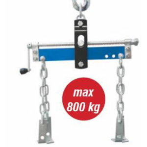 Motor lifting bar with chains and side-shift system, 800kg, Spin