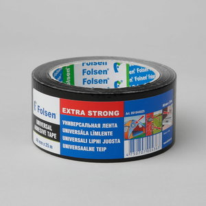 Ūdensizturīga auduma lente melns 270my 48mmx25m, Folsen