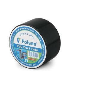 Niiskuskindel hüdroisol.teip must PVC 48mmx30m, , Folsen