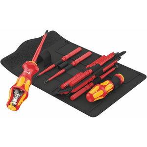 Bit-screwdriver 1/4´´ set KK Turbo VDE PH,PZ,PZ/S,TX,HEX,SL, Wera