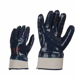 Gloves, fully covered with hard nitrile, wide cuff, 10