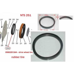 RUBBER TIRE NTS 251 NO. 24A, Holzstar