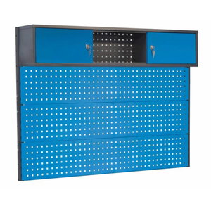 Perforated wall with cabinet 1500mm