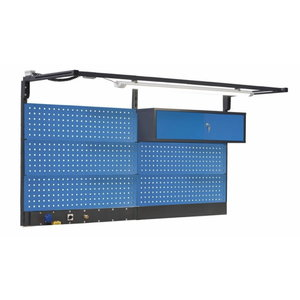 Perforated wall with cabinet and lamp 2000mm, PROMAG