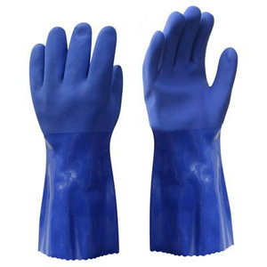 Gloves, Rubber Gloves, oil-resistant PVC, cotton lining. 10