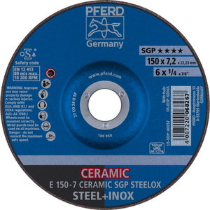 Slīpdisks 150x7,2mm CO24 Q SG Ceramic, Pferd