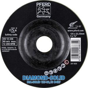 Griezējdisks 125mm D427 CC-GRIND-SOLID DIAMOND, Pferd