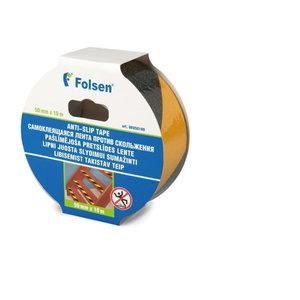 Juosta ma˛inanti slydima, geltona/juoda, PVC 50mmx10m, Folsen