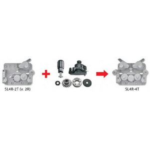 Upgrade kit from 2 rolls drive to 4 rolls drive 0,8/1,0mm, Selco