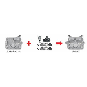 Комплект перестройки с 2 роликов на 4 ролика (2 ведущих) 1,0/1,2мм, BOHLER