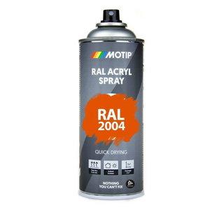 Purškiami dažai MOTIP spray paint RAL 2004 oražiniai, 400ml, Motip