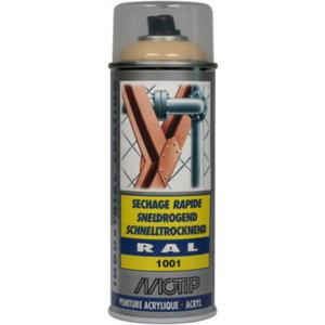 purškiami dažai  RAL 1001, smėlio spalvos su blizgesiu 400ml, Motip