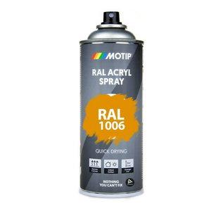 MOTIP spray paint RAL 1006, 400ml, Corn Yellow, high gloss, Motip