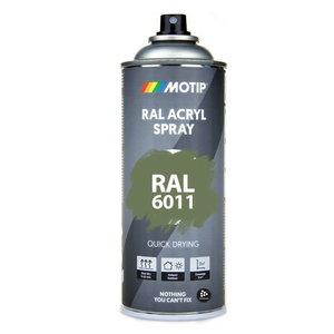 Spray paint RAL 6011 Green high gloss 400ml, Motip