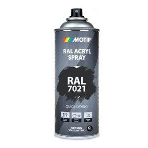 Spray paint 7021 black grey 400ml, Motip
