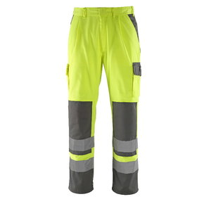 Tööpüksid Olinda kõrgnähtavus EN471 kollane/tumehall 82C50, Mascot