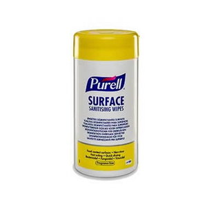 Surface sanitising wipes Purell, 100 pcs