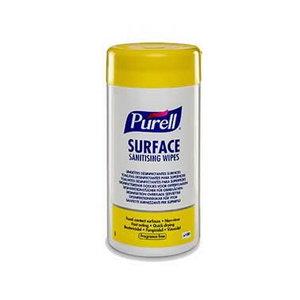 Surface sanitising wipes Purell, 100 pcs