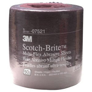 Abrasiiv lehtrull 100x200mm A VFN Scotch-Brite punane, 3M