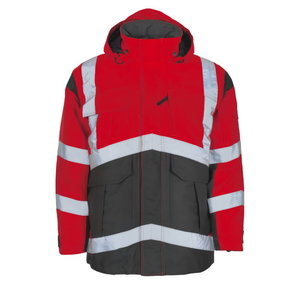 Afife Parka, high visibility, red/dark anthracite, XL, Mascot