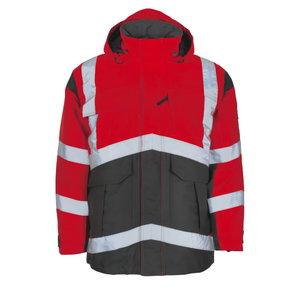 Talvejope Afife kõrgnähtav CL2, punane/hall XL