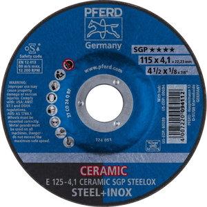 Šlifavimo diskas 125x4,1mm SGP Ceramic STEELOX, Pferd