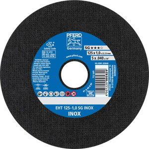Pjovimo diskas nerūd. plienui 125x1,0mm SG INOX EHT, Pferd