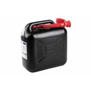 Kütusekanister 10L, valamisotsikuga, must, Ratioparts