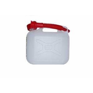 Kütusekanister 5L, valamisotsikuga, läbipaistev