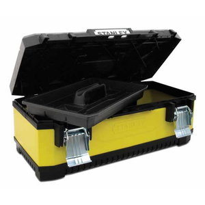 "26"" YELLOW METAL PLASTIC TOOLBOX, Stanley"