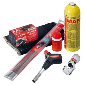 Kõva jootmiskomplekt POWER FIRE Compact promo-set, Rothenberger