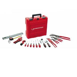 Hand tool kit, 18 pcs., Rothenberger