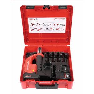 Akumulatora cauruļu prese ROMAX Compact TT basic set, 1x2Ah CAS, Rothenberger