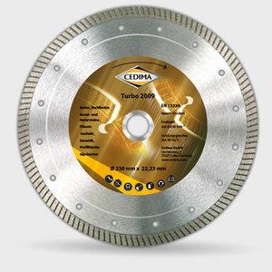 Teemantkuivlõikeketas 125mm TURBO 2009 1,2x10x22, Cedima